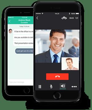 Broadcloud soft calling app
