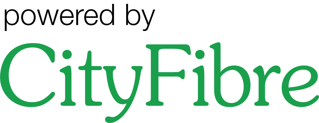 CF logo powered by green