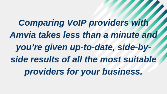 Comparing VoIP providers with Amvia