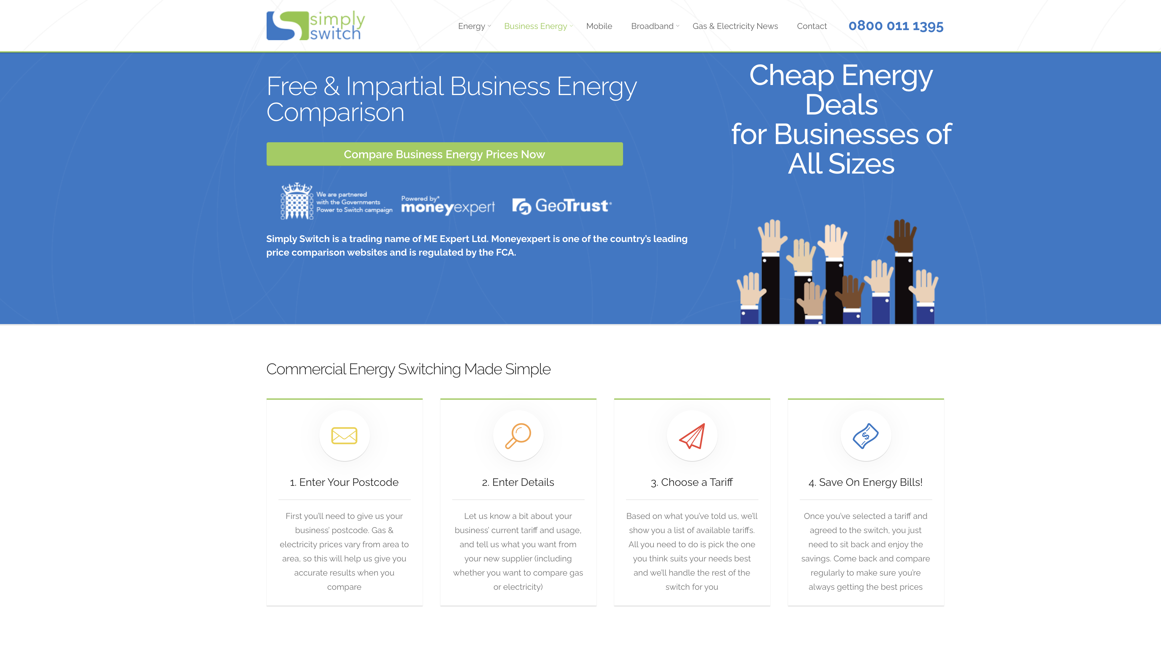 simply switch business energy comparison site