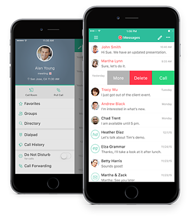 Broadsoft UC-One Connect VoIP mobile app