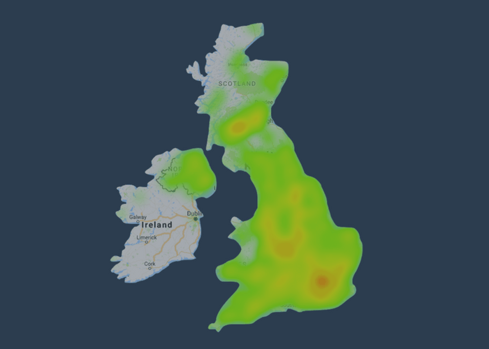 heatmap uk fttc availability