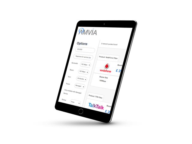 Amvia iPad business fibre search